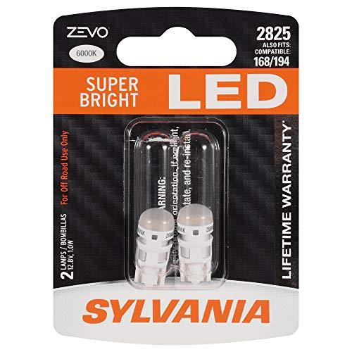 SYLVANIA ZEVO 2825 T10 W5W White LED Bulb, (Contains 2 bulbs)