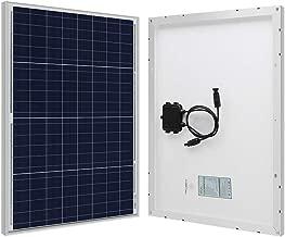 HQST 50W 12V Poly Solar Panel 50 Watt 12 Volt Off Grid Power RV Car Boat Camping