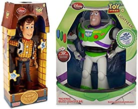 Toy Story 12-Inch Talking Buzz Lightyear and 16-Inch Talking Woody Figures