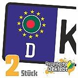 Bangladesch Kennzeichen Aufkleber Sticker Nummernschild Land Country Nation