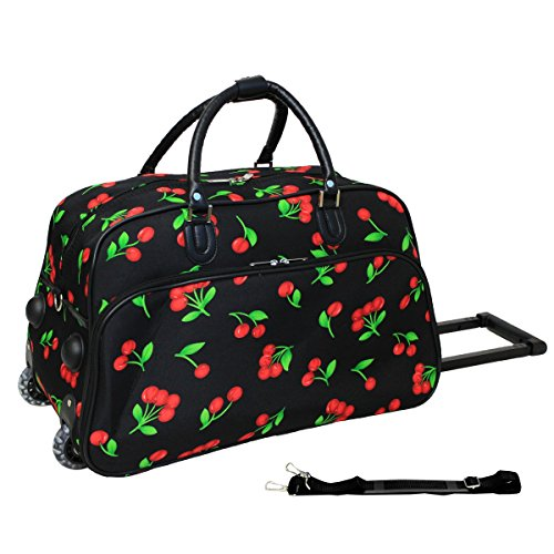 World Traveler 21-Inch Carry-On Rolling Duffel Bag, Cherry
