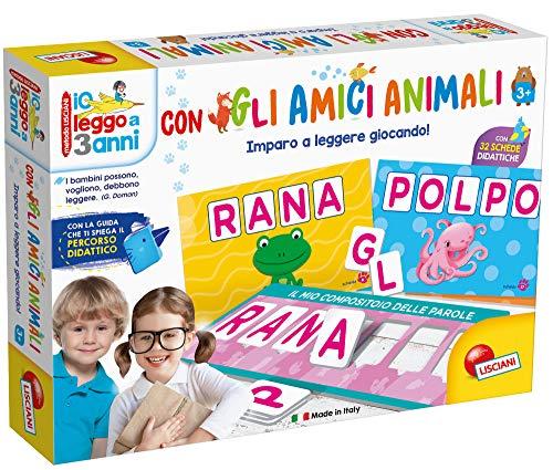 Lisciani Giochi - Leggo a Tre Anni Gli Amici Animali, Multicolore 65547.0