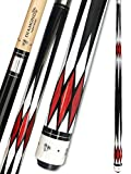 Tai ba cues Pool Cue Stick, 11.75mm Tip, 57', Hardwood Canadian Maple 2-Piece Professional Billiard Stick 18,19,20,21 Oz (Selectable)-Blue, Red, Gray, Green Pool Cue Stick