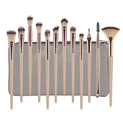 Brosse De Maquillage De 12 Pièces Maquilleuse Professionnelle Oeil Blush Visage Ombre Beauté Maquillage Outil Pack Brosse Ceinture,6,A