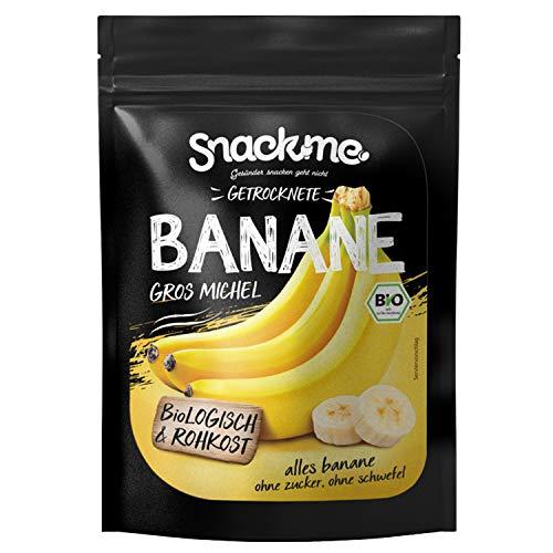 Bio getrocknete Fair Trade Bananen Gros Michel Trockenfrüchte getrocknet 500g Rohkost-Qualität ohne Zucker ungeschwefelt unbehandelt ungezuckert