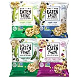 Off The Eaten Path 4 Flavor Sampler Veggie Crisps Variety Pack Gluten Free and made with real veggies, Pepper, 1.25 Ounce (Pack of 16)