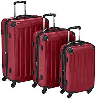HAUPTSTADTKOFFER - Alex- Set of 3 Hard-side Luggages Trolley Suitces Expandable, (S, M & L), red (B007RKP074) | Amazon price tracker / tracking, Amazon price history charts, Amazon price watches, Amazon price drop alerts