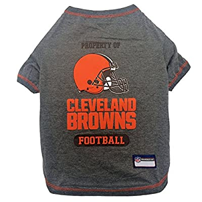 NFL CLEVELAND BROWNS Dog T-Shirt, X-Small. - Cutest Pet Tee Shirt for the real sporty pup