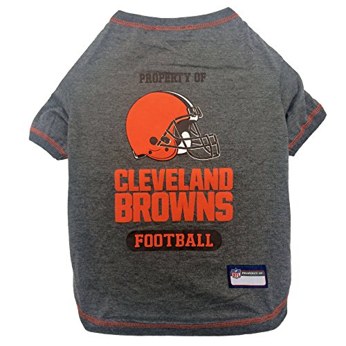 PET SHIRT for Dogs & Cats - NFL CLEVELAND BROWNS Dog T-Shirt, Small. - Cutest Pet Tee Shirt for the real sporty pup
