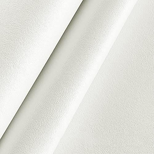 MUYUNXI Tessuto Ecopelle Finta Pelle per Tappezzeri Mobili Coprisedile per Sedia Armadi da Cucina Divano 138 Cm di Larghezza Venduto al Metro(Color:Beige Perlato)
