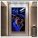 CAPTIVATE HEART Pintura de Arte en Lienzo 30x50cm sin Marco Arte Negro Mujer fumadora Póster e Impresiones Pintura Arte de Pared para Sala de Estar Decoración del hogar