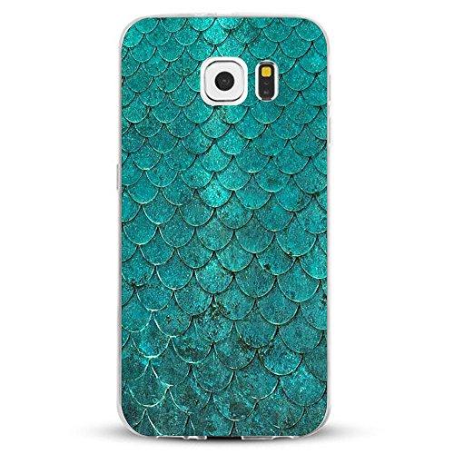 Galaxy S6 Edge Plus Cute Marmo Design ,Samsung Galaxy S6 Edge Plus Clear Cover, Sottile e Leggera Silicone Trasparente Anti Scivolo Graffi Morbido TPU Cover per Samsung Galaxy S6 Edge Plus (Marmo4)