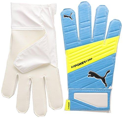 PUMA Guantes de Portero Evopower Grip 4.3, Atomic Blue/Safety Yellow/Black, 4, 041227 02