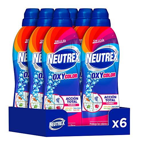 Neutrex Oxy Color Quitamanchas sin Lejía, Producto para el Hogar 840 ml, Pack de 6, Total 5.040ml