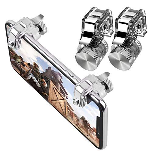 Morza 1 par del teléfono móvil del Juego de Disparo del Joystick apuntar Botón Disparador R11 Tirador de Metal Clave Gamepad de Repuesto para PUBG