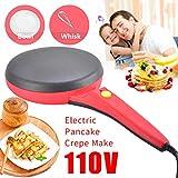 Electric Crepe Maker,Portable Crepe Maker Electric Griddle Non-stick Crepe Pan, Automatic...