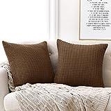 Deconovo Funda para cojin Prodector del Mueble Decorativa Cuadrada 2 Piezas 45x45cm Moca