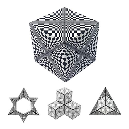 GeoBender Cube - Abstract - magico Rompecabezas geométrico, Puzzle Plegable, Juego de Paciencia ñ Cubo de transformaciones infinitivas para Aprender y Jugar para niños y Adultos