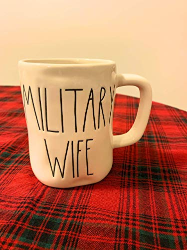 Rae Dunn Military Wife Mug Large Letters Artisan Collection By Magenta