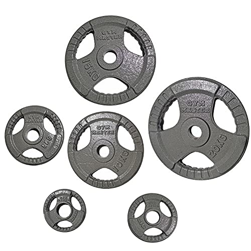 GYM MASTER Pair of Cast Iron Tri Grip 2' Olympic Weight Plates - 5kg