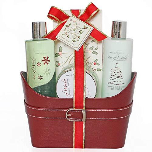 Coffret cadeau pour femme -Corbeille de Bain rouge - Collection Sar of Wonder - Thé Verte