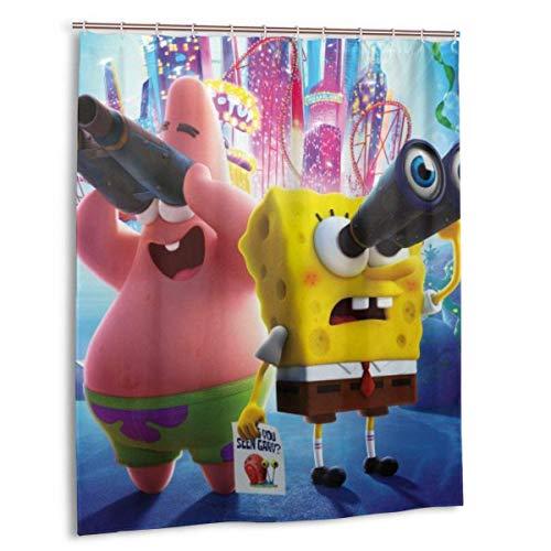 BOBO-Shop Duschvorhang wasserdichte Duschvorhang Spongebob Schwammkopf 60 * 72inch