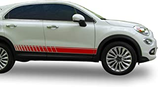 Bubbles Designs Decal Sticker Vinyl Offroad Racing Stripes Compatible with Fiat 500x 2014-2018