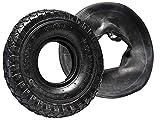 2 pneumatici con profilo a tacchetti + camere d'aria, 260 x 85 mm, 3.00-4'