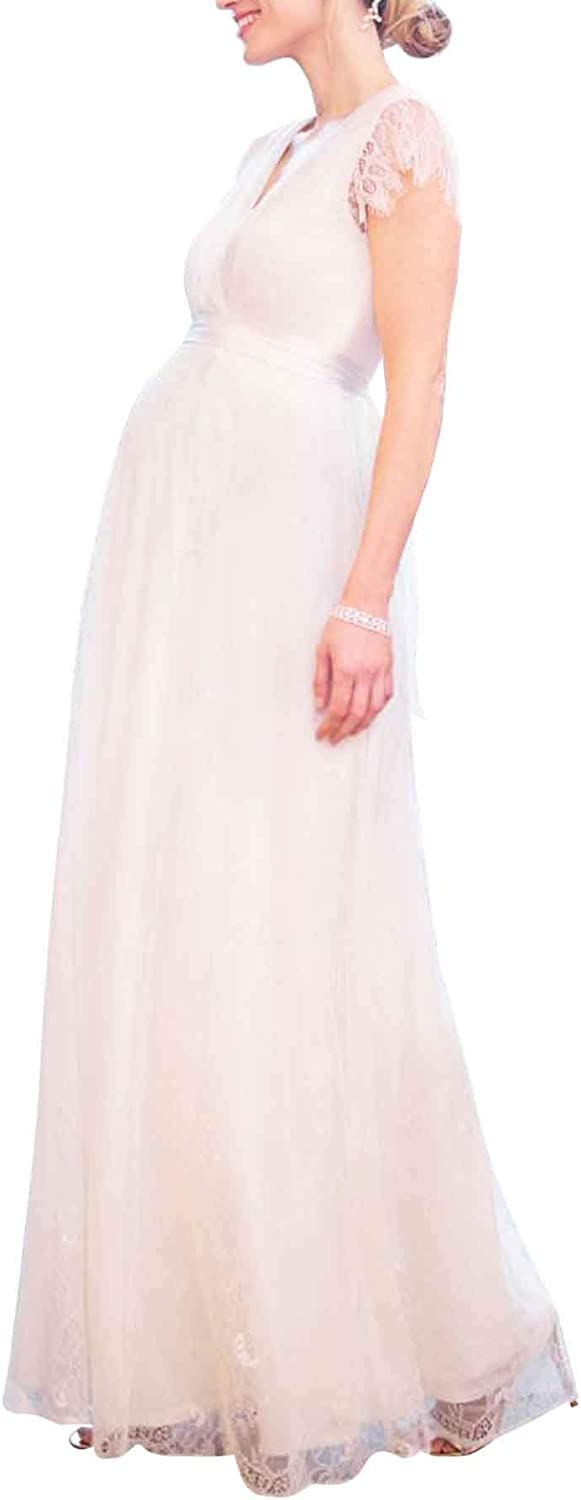 Maternity Special Ranking TOP8 Campaign Photography Dresses Lace V Shoulder Pregnancy Off Wrap
