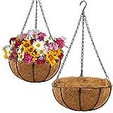 2 Pack Metal Hanging Planter Basket...