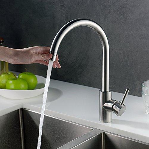 Homelody Wasserhahn Küche mit Brause Küchenarmatur 360° schwenkbar/drehbar Auslauf Spültischarmatur Spülbecken Spültisch Armatur Mischbatterie für Küche - 4