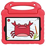 Keyzone Shockproof Kids Tablet Cover for iPad Mini 1/2/3/4/5, Red