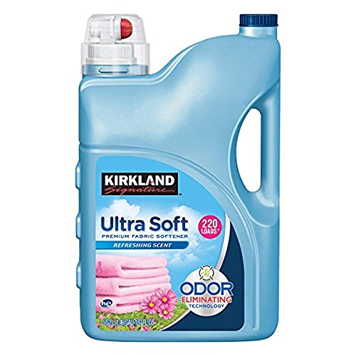 Kirkland Signature Ultra Soft Premium Liquid Fabric Softener: Odor Eliminating Refreshing Scent - 187 fl. oz (220 Loads)