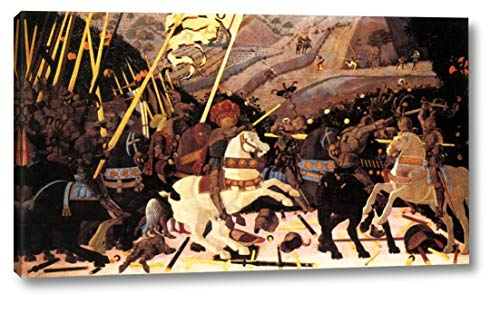 "Niccolo da Tolentino Leads The Florentine Troops by Paolo Uccello - 11"" x 20"" Gallery Wrap Canvas Art Print - Ready to Hang"