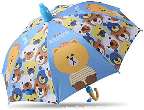 Paraguas Ocho hueso semi-automático niño paraguas niños paraguas de dibujos animados coche paraguas paraguas paraguas de vinilo protector solar protección UV estudiante paraguas - -
