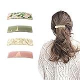 Geoyien pinzas para el cabello automáticas, 4 piezas pasadores de pelo clásicos pinzas de pelo de acetato pinzas de pelo rectangulares accesorios para el cabello para mujeres largas y delgadas niñas