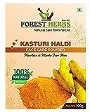 Forest Herbs 100% Natural Organic Pure Kasturi Manjal Wild Turmeric Powder for Skin