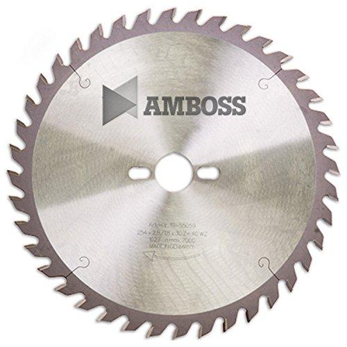 AMBOSS Werkzeuge - Hochwertiges Hartmetall Tischkreissägeblatt für Holz - Wechselzahn (80 Zähne) - Ø 254 mm x 2,8 mm x 30 mm - Geeignet für Tisch- & Formatkreissägen von Bosch, Metabo & Scheppach