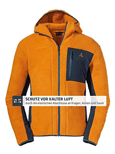 Schöffel Herren Fleece Hoody Trifide M Fleecejacke, golden Oak, 54