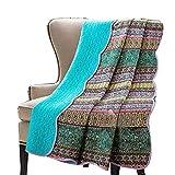 Alicemall - Colcha de verano para cama individual con diseño tipo patchwork 150 * 200 cm, 100% algodón, pattern11, suelto