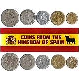 5 Monedas Diferentes - Moneda extranjera española Antigua y Coleccionable para coleccionar Libros - Conjuntos únicos de Dinero Mundial - Regalos para coleccionistas