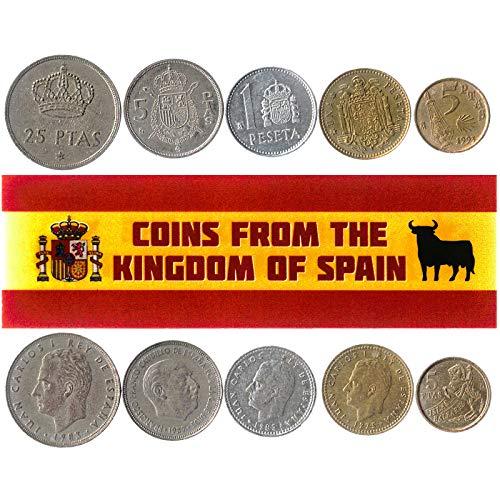 Hobby of Kings - Verschiedene Münzen - alte, sammelbare spanische Devisen zum Sammeln