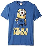 Despicable Me Men's Minions Stuart One in A Million Funny Graphic Tee, Royal Heather, XX-Large
