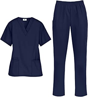 Strictly Scrubs Women's Medical Uniform Scrub Set (XS-3X, 14 Colors) – Includes Top and Pant
