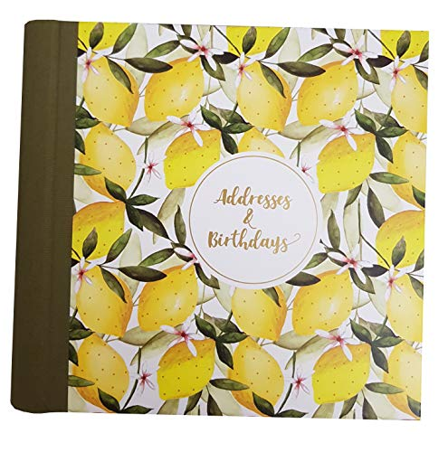 The Art File Adressbuch/Geburtstagsbuch, Motiv Orangen und Zitronen, Fester Einband