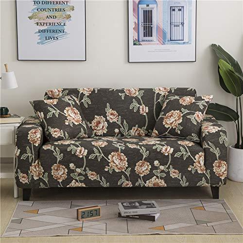PPMP Floral Stretch Couch Cover Sofabezüge für Wohnzimmer Polyester Möbel Protector Fundas Sofabezug A8 3-Sitzer