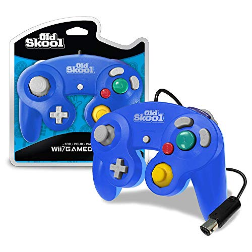 Old Skool GameCube / Wii Compatible Controller - Blue Special Edition