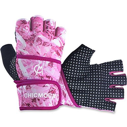 I guanti da allenamento CHICMODA Women sono realizzati con un palmo imbottito e una chiusura di avvolgimento di sostegno per una comoda protezione della mano e un tatto bloccato durante gli allenamenti intensivi di sollevamento. Questi sono i miglior...
