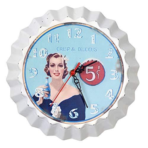 Vintage Wanduhr Pin Up Girl Rockabilly Uhr Retro Stil LDA014 Palazzo Exklusiv