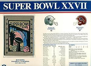 Super Bowl XXVII Patch Dallas Cowboys vs Buffalo Bills at Rose Bowl